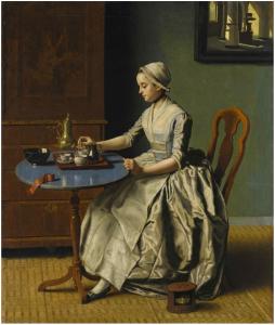 Jeune femme au petit déjeuner-Liotard
